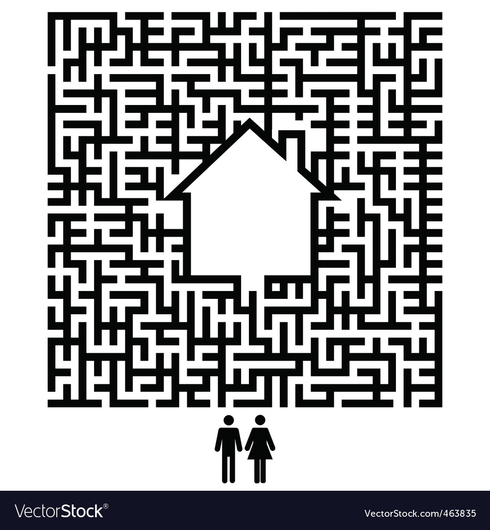 Residents maze vector | Price: 1 Credit (USD $1)
