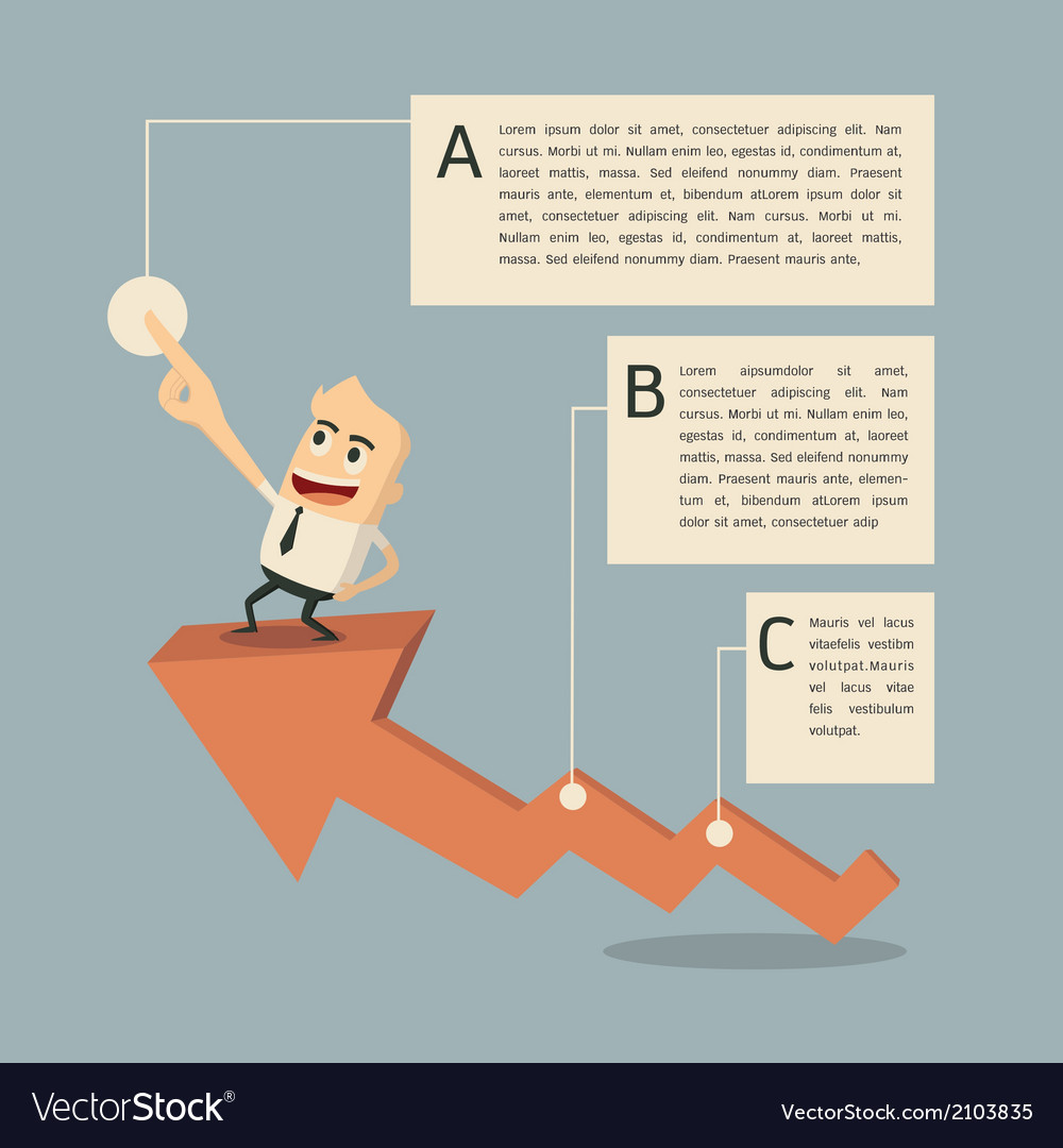 Success graph infographic vector | Price: 1 Credit (USD $1)
