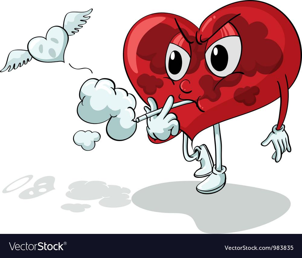 Unhealthy heart vector | Price: 1 Credit (USD $1)