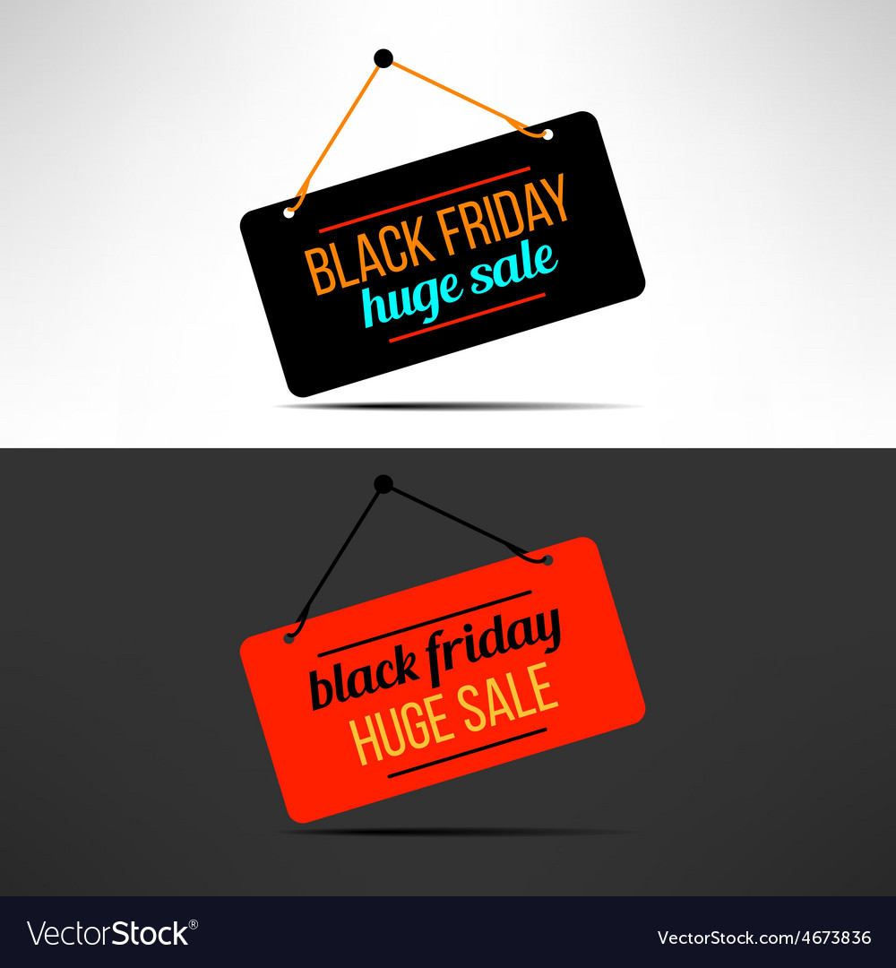 Black friday sale promotional banner vector | Price: 1 Credit (USD $1)