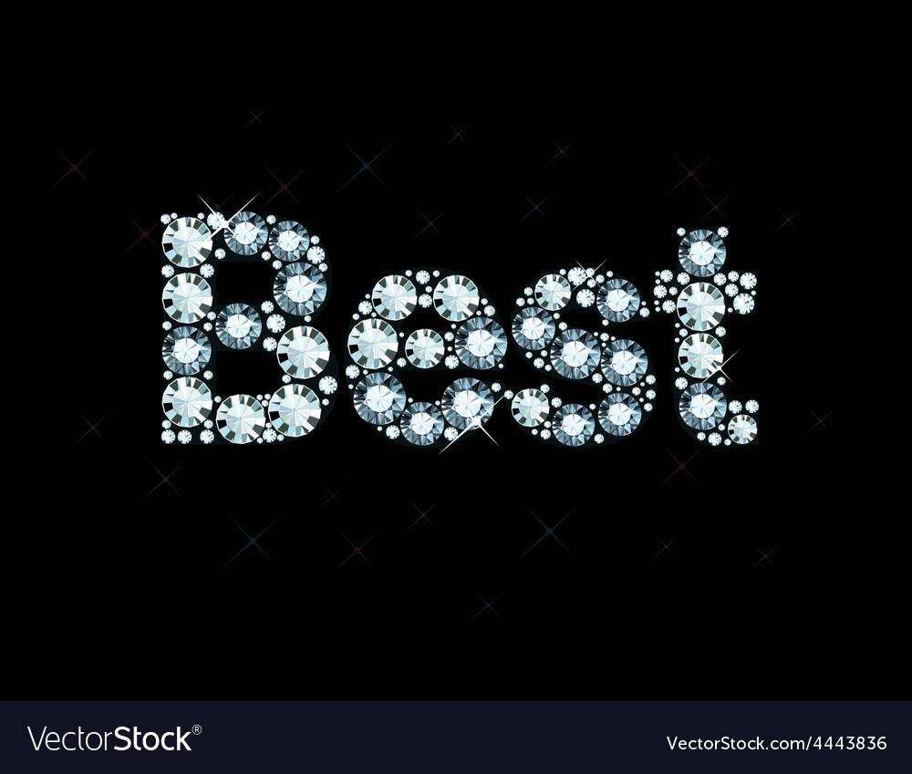 Diamond word best vector | Price: 1 Credit (USD $1)
