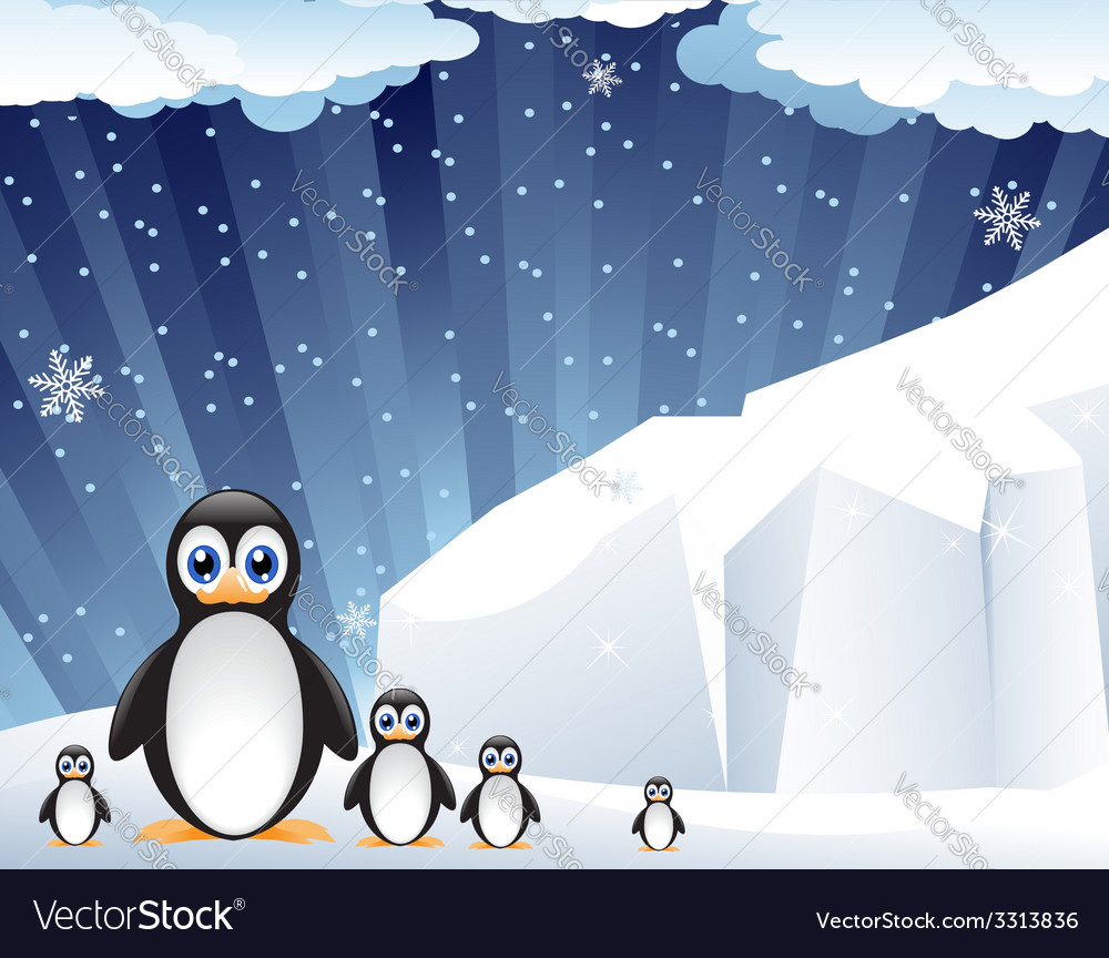 Family of amusing penguins vector | Price: 1 Credit (USD $1)
