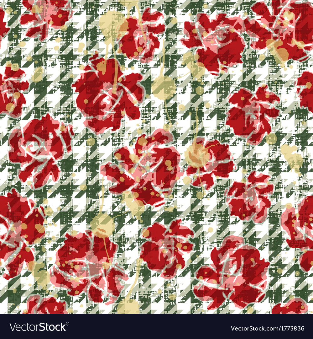 Floral grunge wallpaper vector | Price: 1 Credit (USD $1)