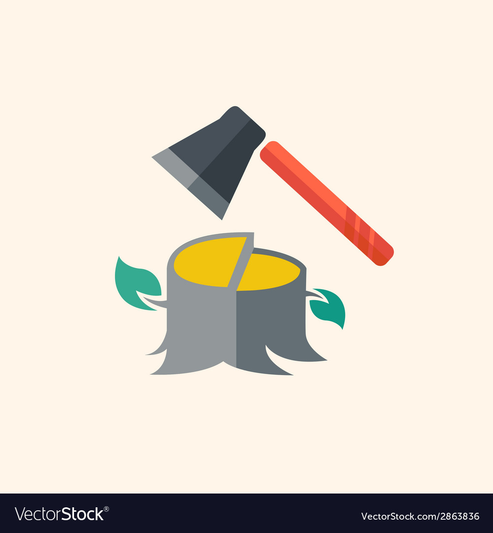 Forestry flat icon vector | Price: 1 Credit (USD $1)