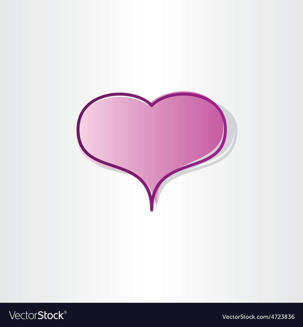 Heart shape love icon design vector | Price: 1 Credit (USD $1)
