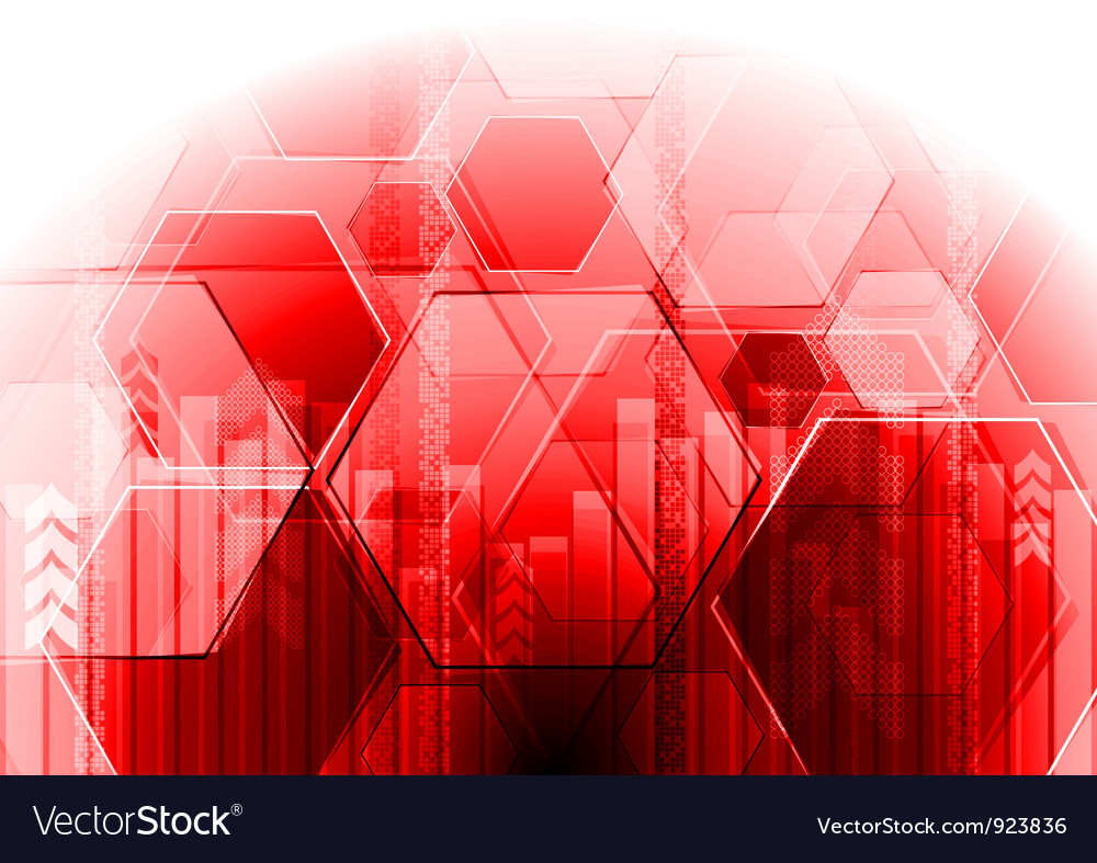 Hi-tech background with hexagon texture vector | Price: 1 Credit (USD $1)