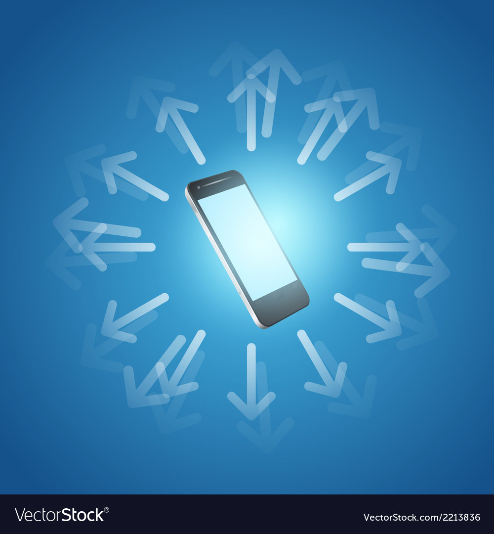 Internet and mobilephone concept symbol vector | Price: 1 Credit (USD $1)