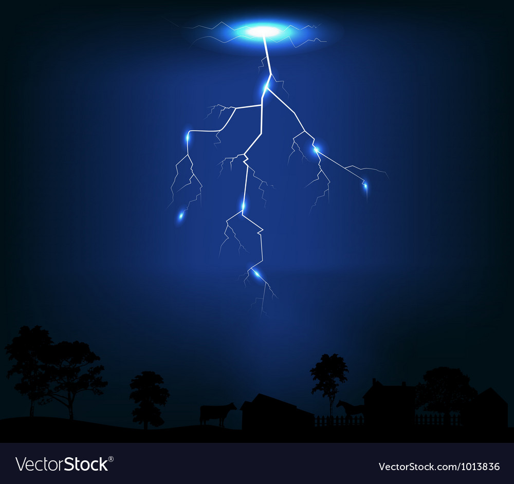 Lightning of dark blue background vector | Price: 1 Credit (USD $1)