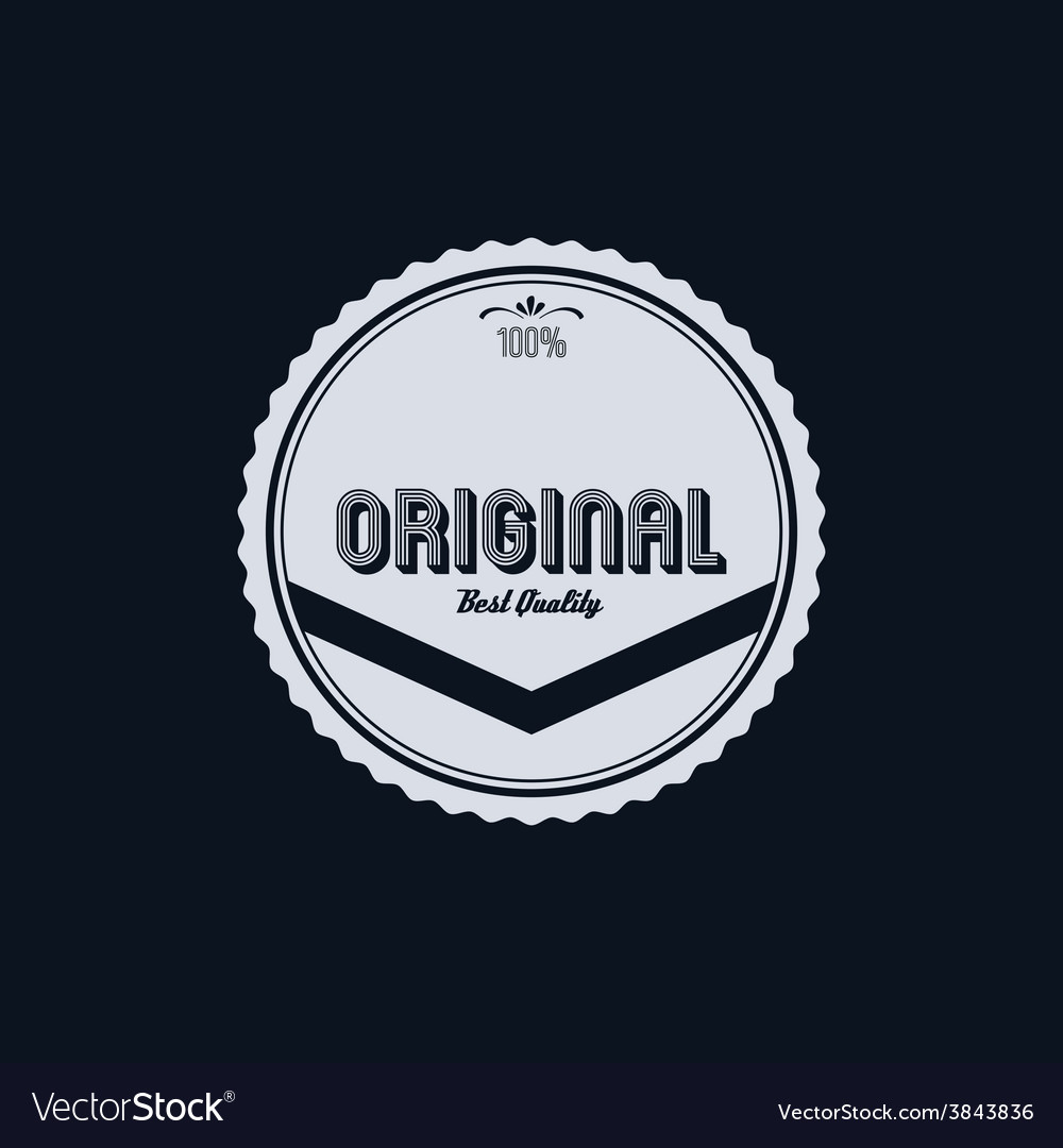 Original badge vector | Price: 1 Credit (USD $1)