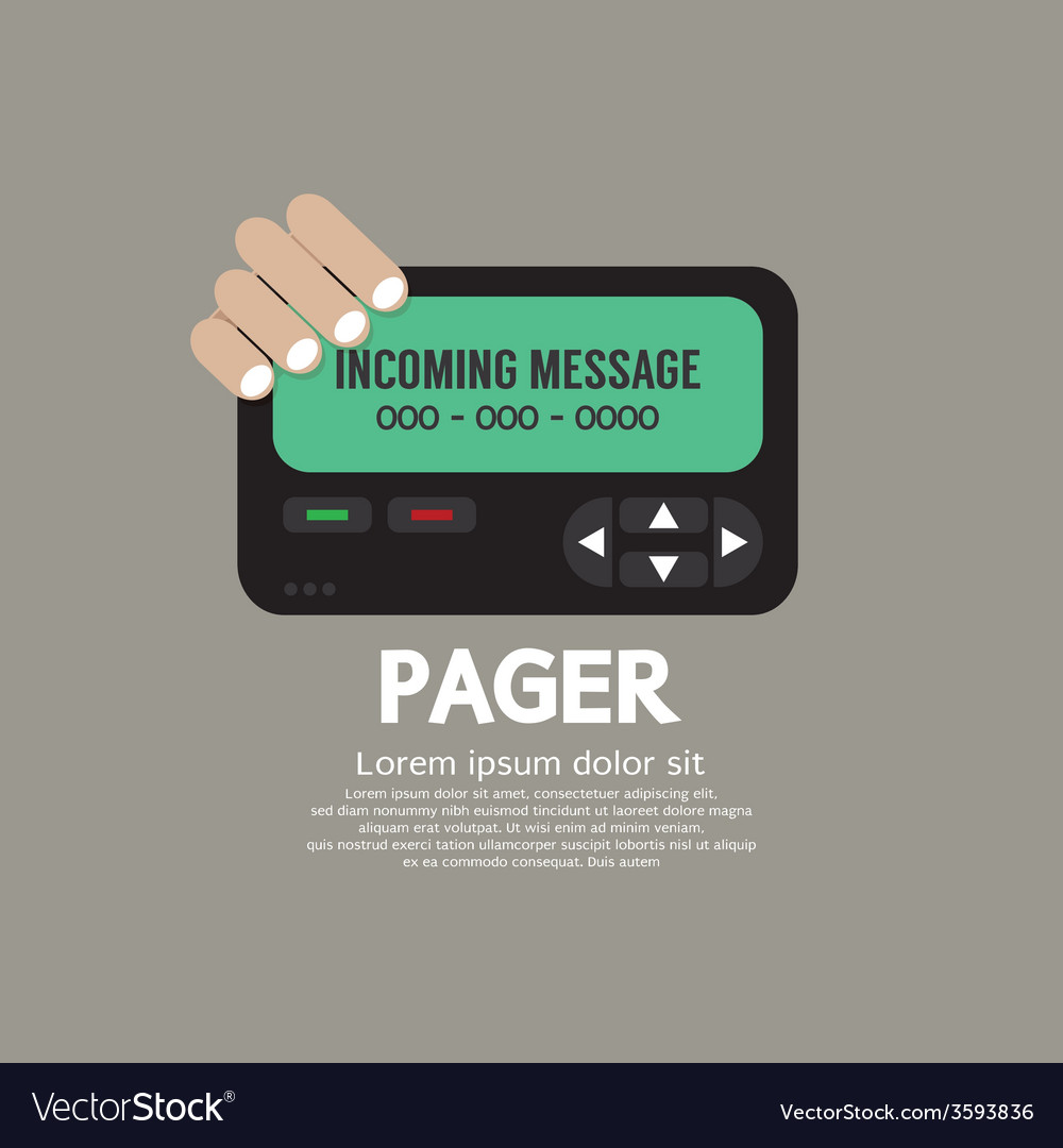 Pager the old wireless telecommunication vector | Price: 1 Credit (USD $1)