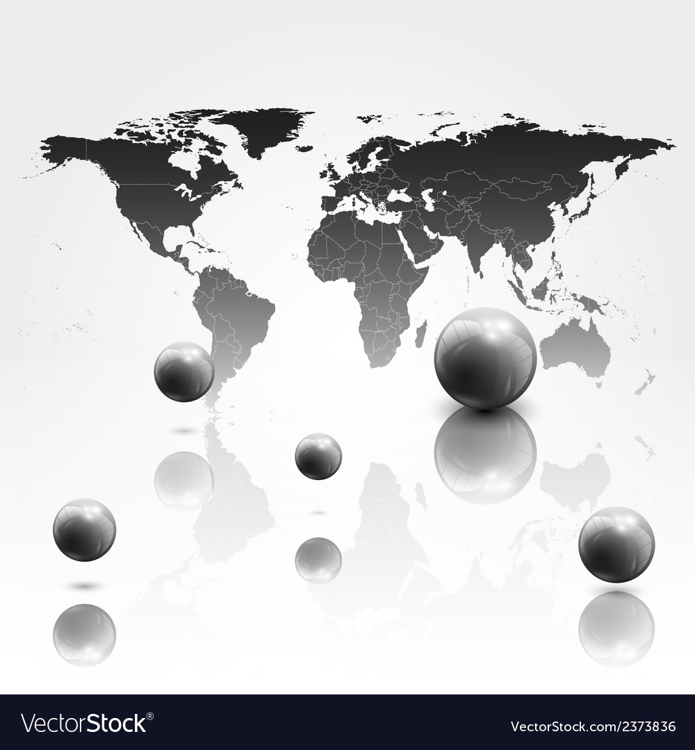 World mab background with 3d spheres vector | Price: 1 Credit (USD $1)