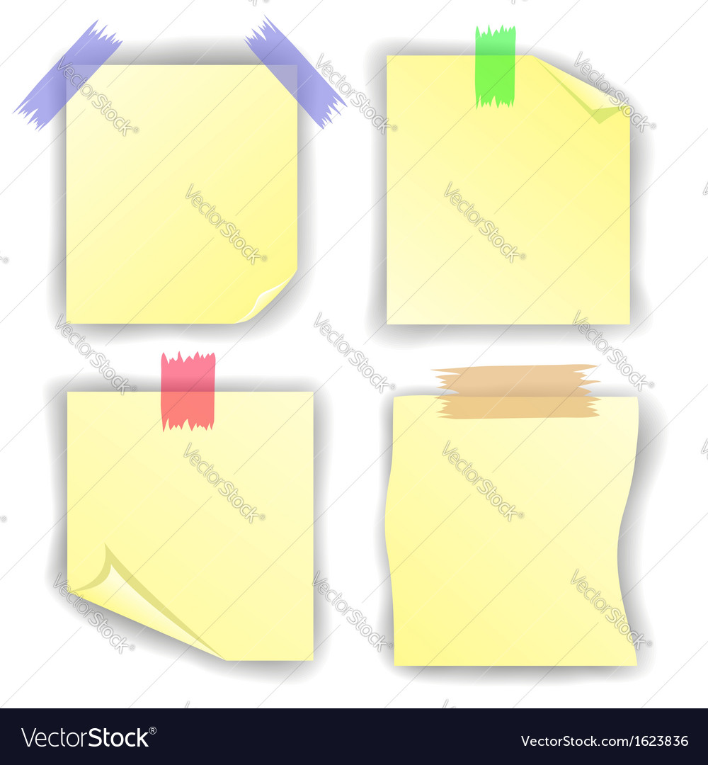 Yellow notice papers vector | Price: 1 Credit (USD $1)