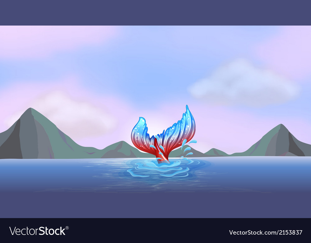 A tail of a mermaid vector | Price: 1 Credit (USD $1)