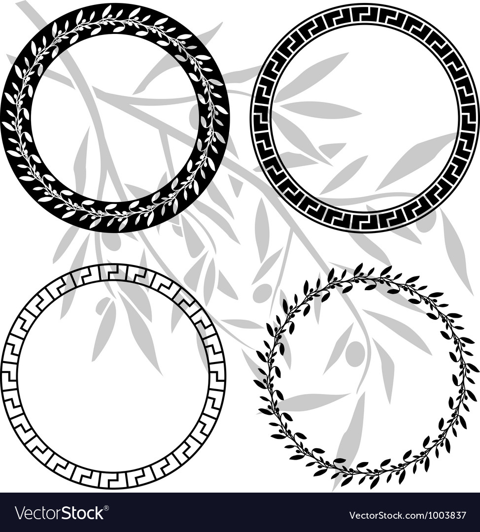 Ancient hellenic patterns in rings vector | Price: 1 Credit (USD $1)