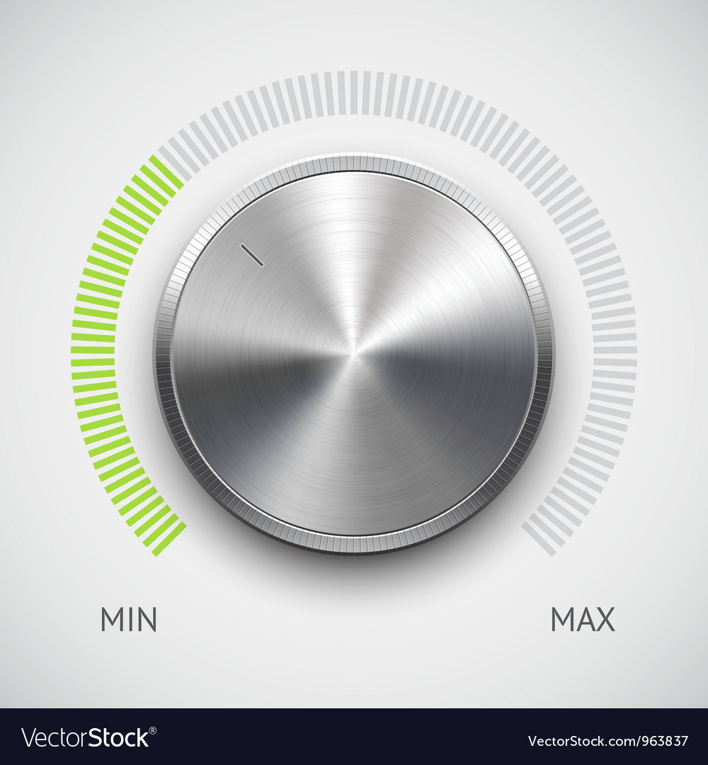 Chrome volume knob vector | Price: 1 Credit (USD $1)
