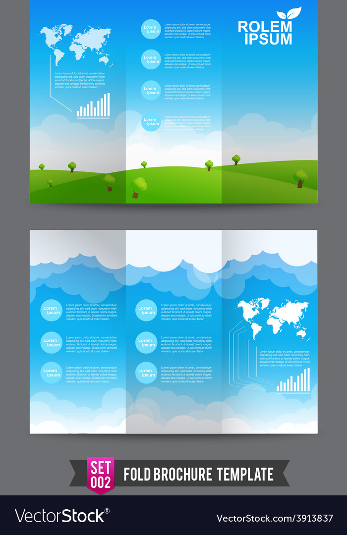 Fold brochure background template 0002 vector | Price: 3 Credit (USD $3)