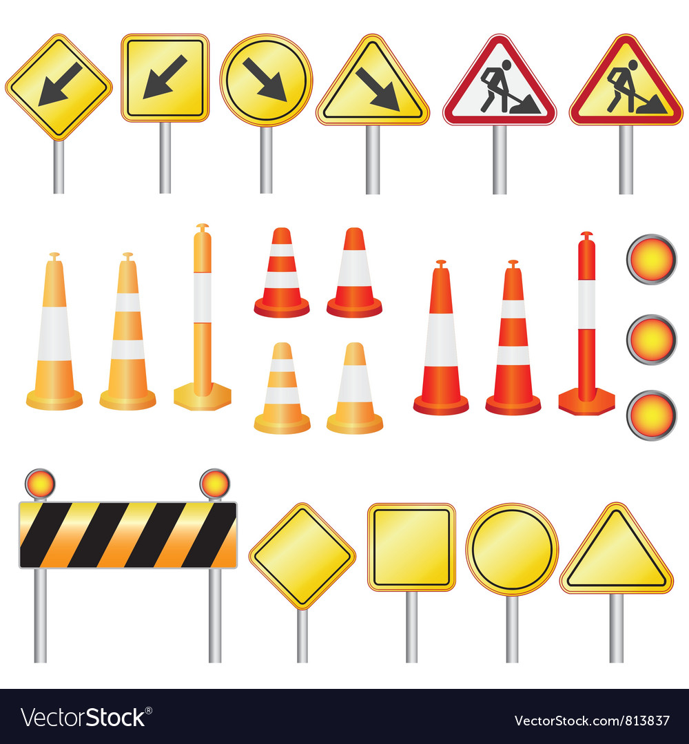 Road set vector | Price: 3 Credit (USD $3)