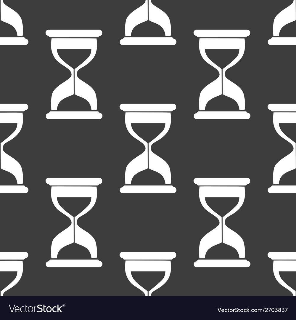Sand clock glass timer web icon flat design vector | Price: 1 Credit (USD $1)