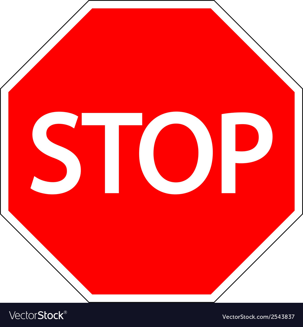 Stop road sign vector   Price: 1 Credit (USD $1)