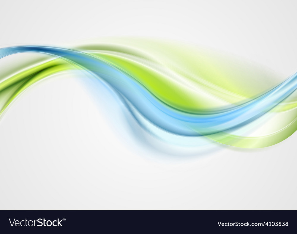 Abstract elegant green blue waves vector | Price: 1 Credit (USD $1)