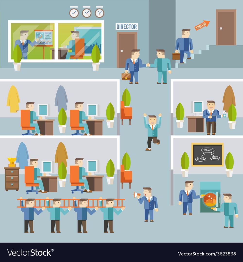 Businessman working concept vector   Price: 1 Credit (USD $1)