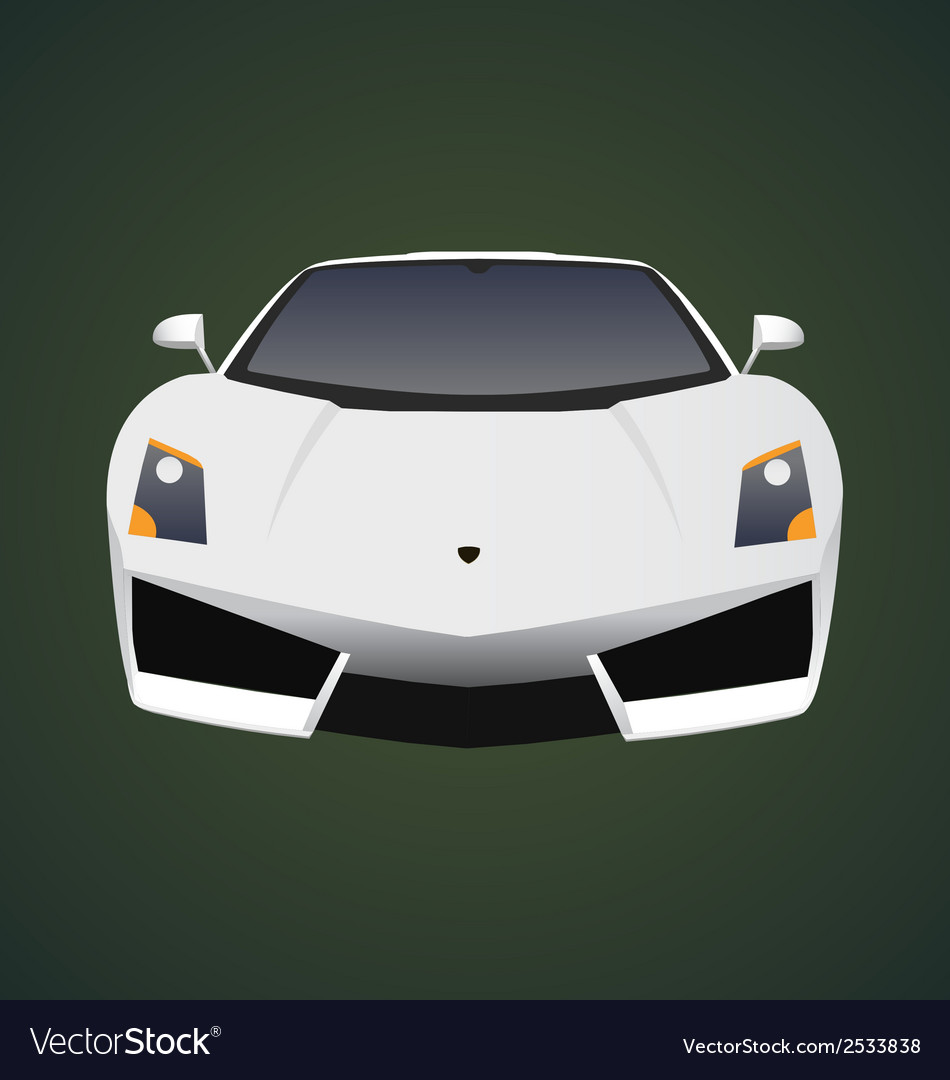 Car front view vector | Price: 1 Credit (USD $1)