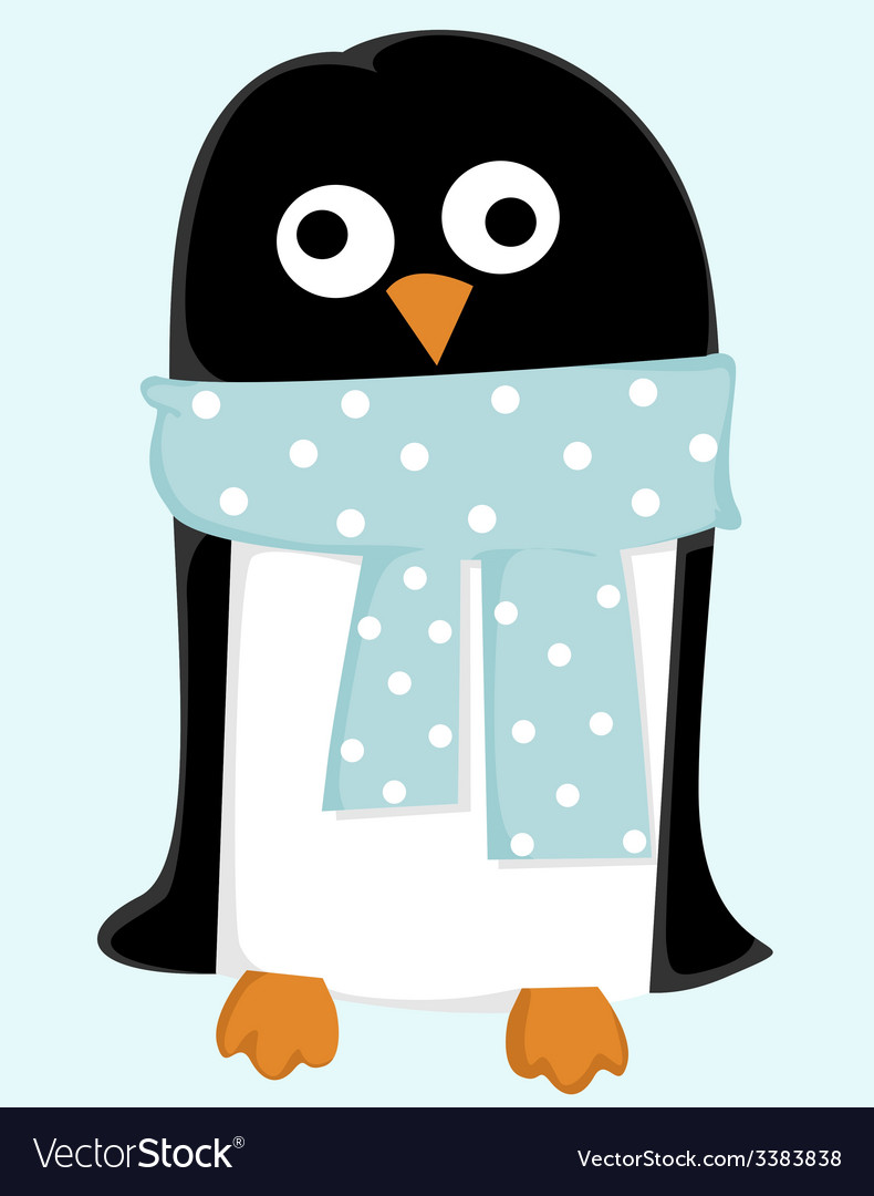 Cute cartoon penguin vector | Price: 1 Credit (USD $1)