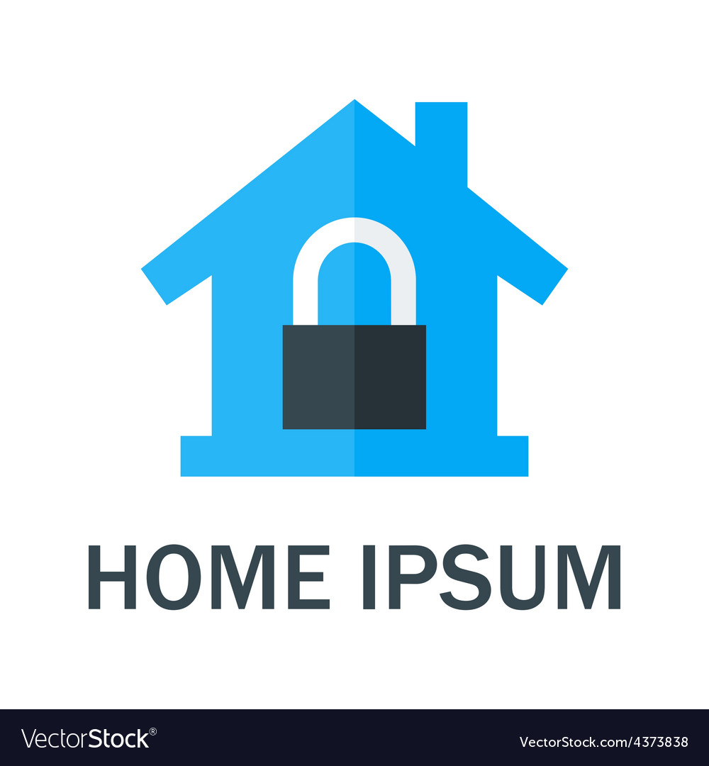 Home with padlock logo vector | Price: 1 Credit (USD $1)
