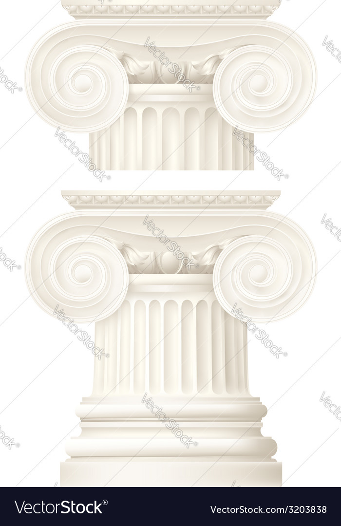 Ionic column  drawing vector | Price: 1 Credit (USD $1)