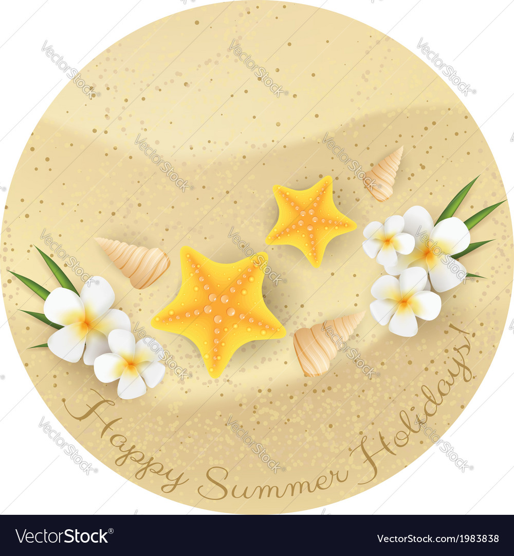 Sand summer background vector | Price: 1 Credit (USD $1)