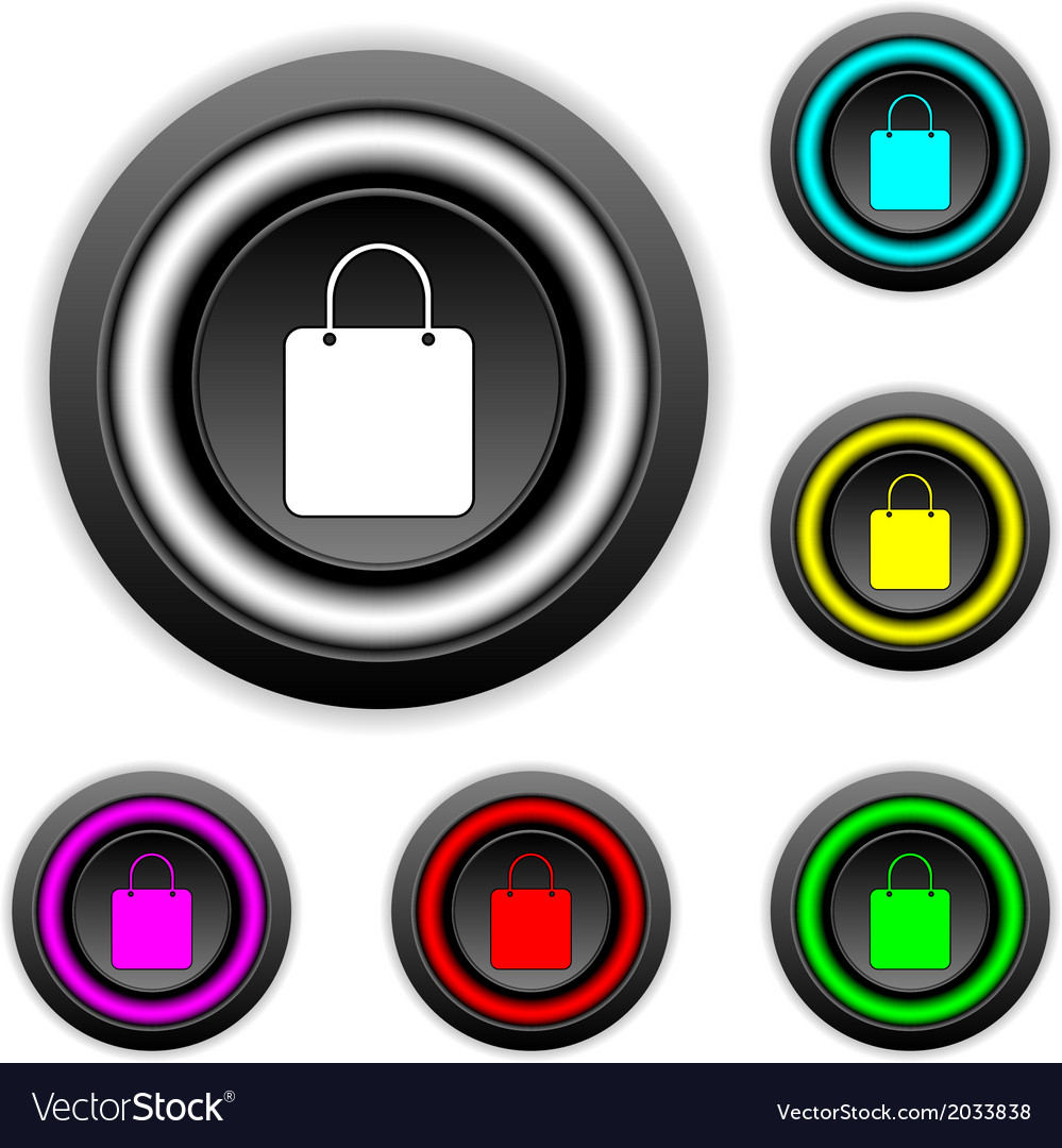 Shopping buttons set vector | Price: 1 Credit (USD $1)