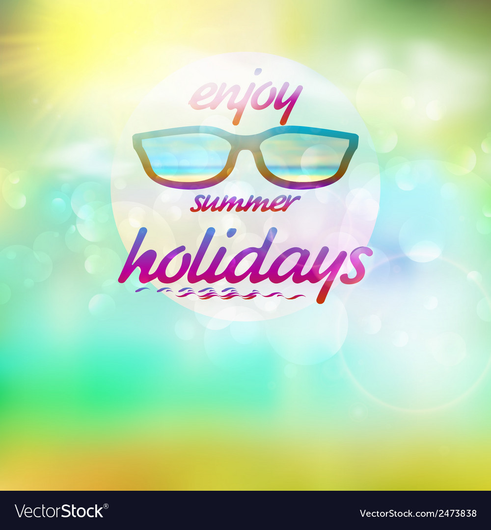 Summer sky with sun wearing sunglasses vector | Price: 1 Credit (USD $1)