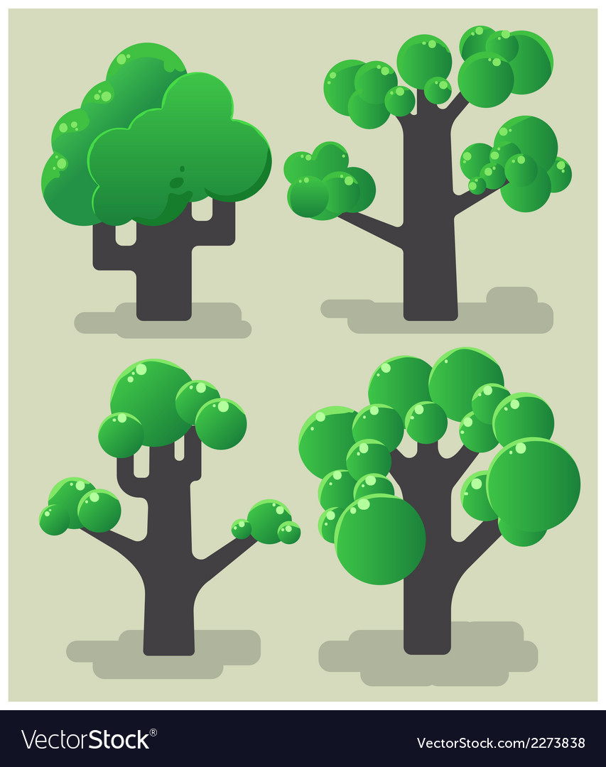 Tree modern collection vector | Price: 1 Credit (USD $1)