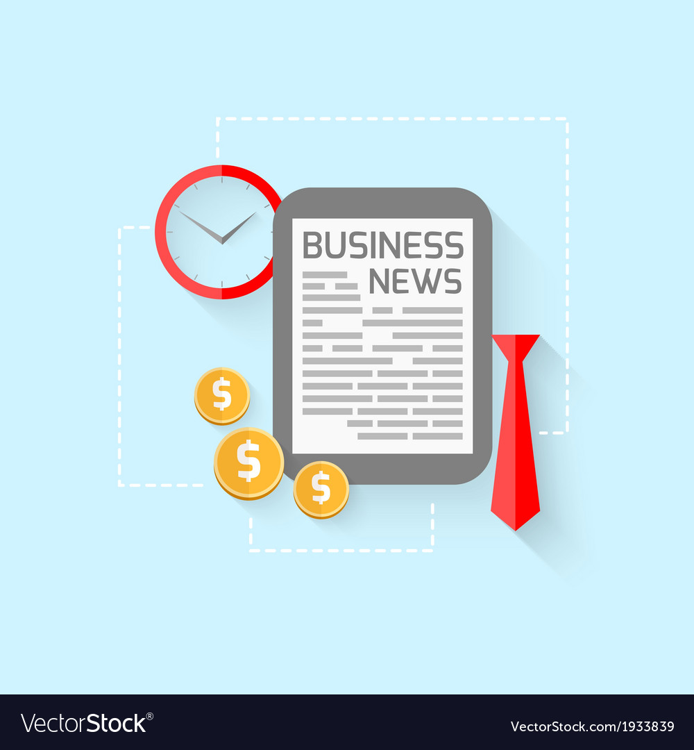 Business design in flat style vector | Price: 1 Credit (USD $1)