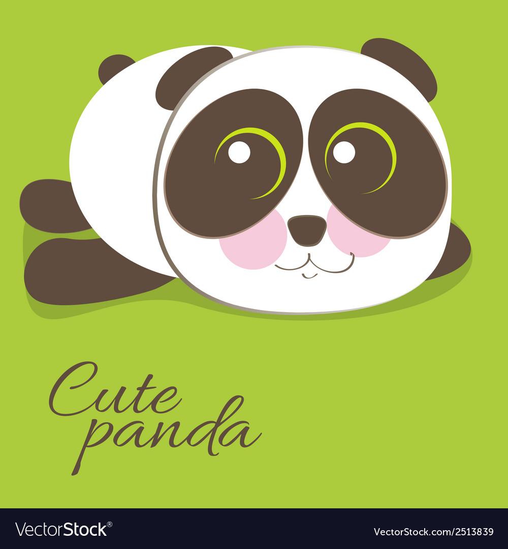 Cute young baby panda bear vector | Price: 1 Credit (USD $1)