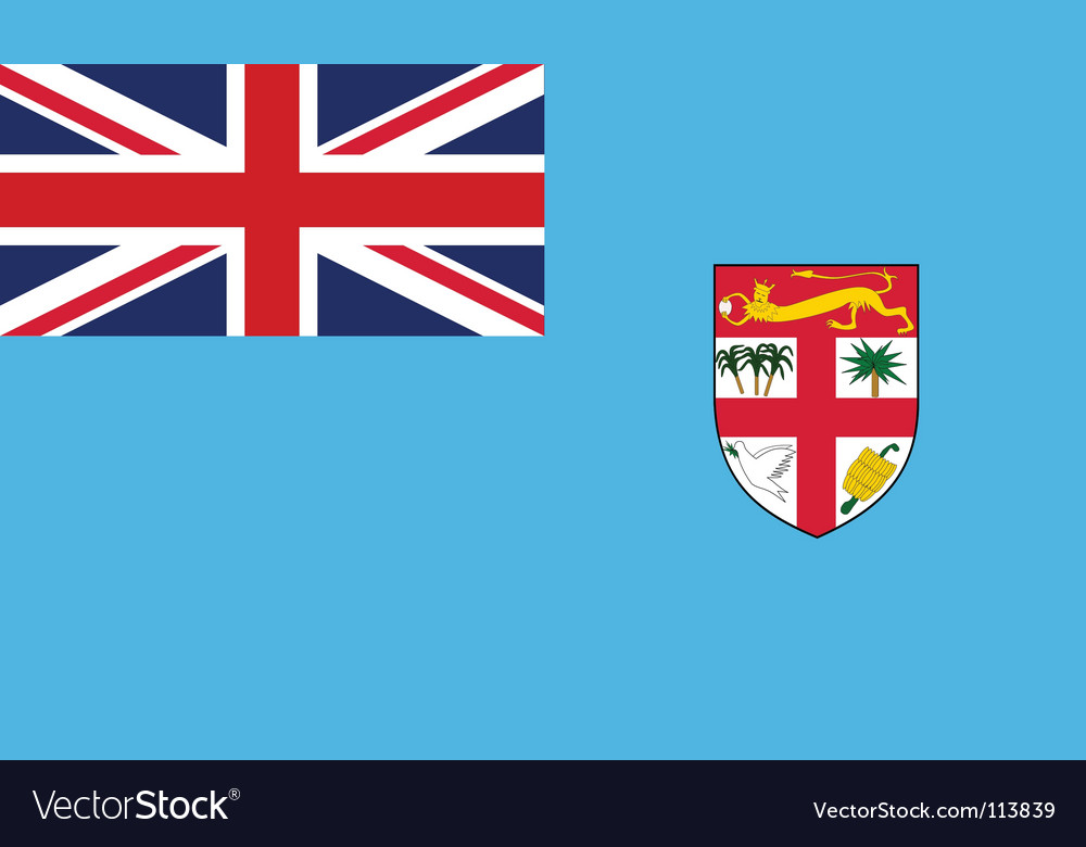 Fiji flag vector | Price: 1 Credit (USD $1)