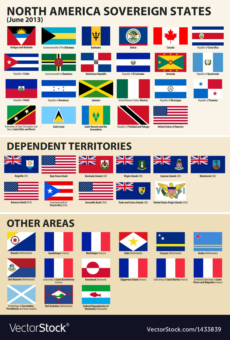 Flags of the north america 2013 vector | Price: 1 Credit (USD $1)