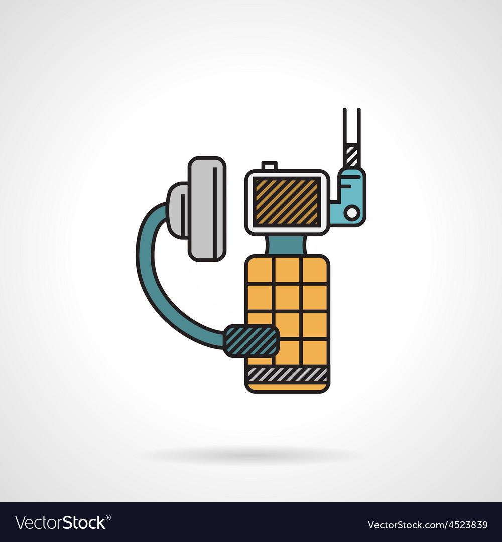 Flat color icon for portable radio vector | Price: 1 Credit (USD $1)
