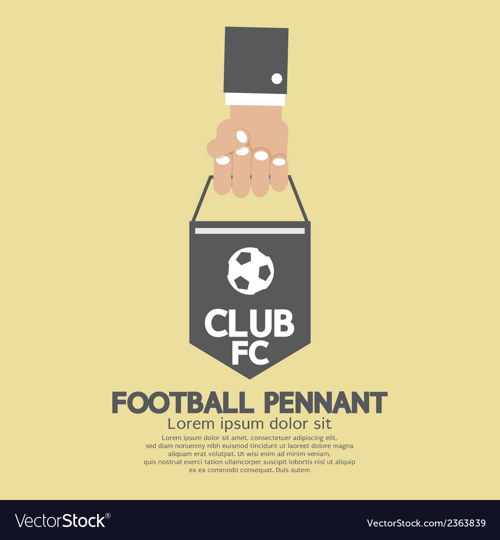 Football or soccer pennant banner vector | Price: 1 Credit (USD $1)