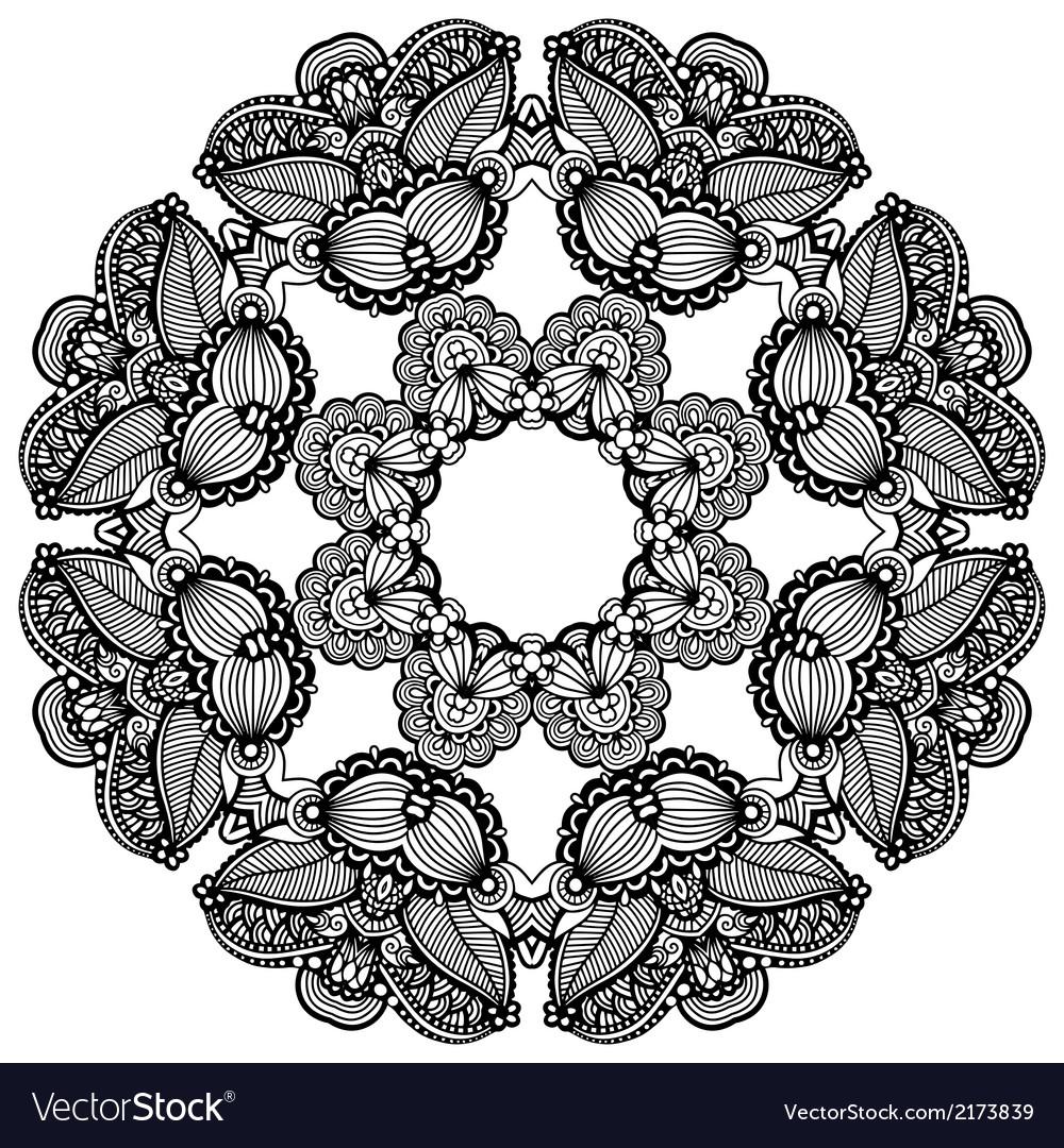 Geometric doily pattern vector | Price: 1 Credit (USD $1)