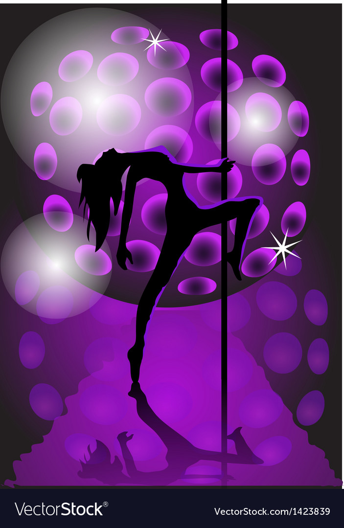 Girl dancing with a pole vector | Price: 1 Credit (USD $1)