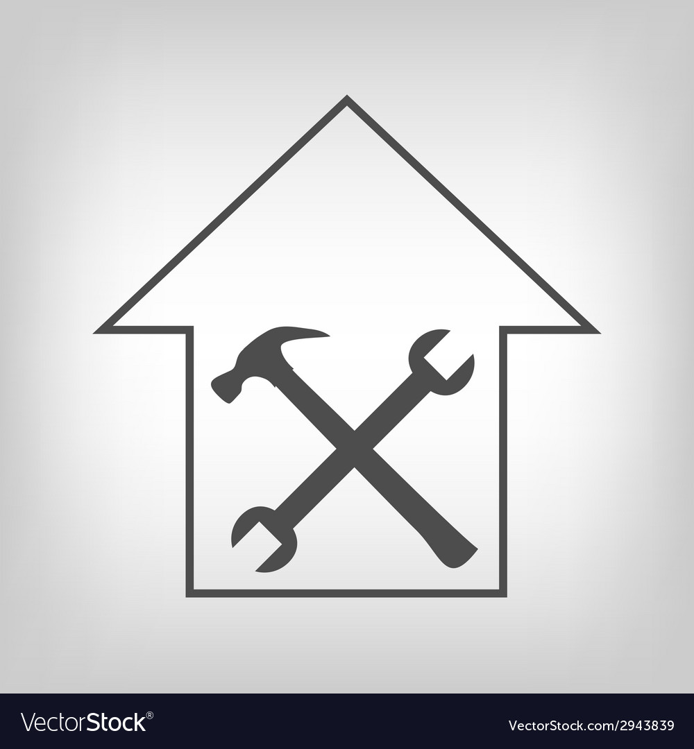 House repair sign vector | Price: 1 Credit (USD $1)