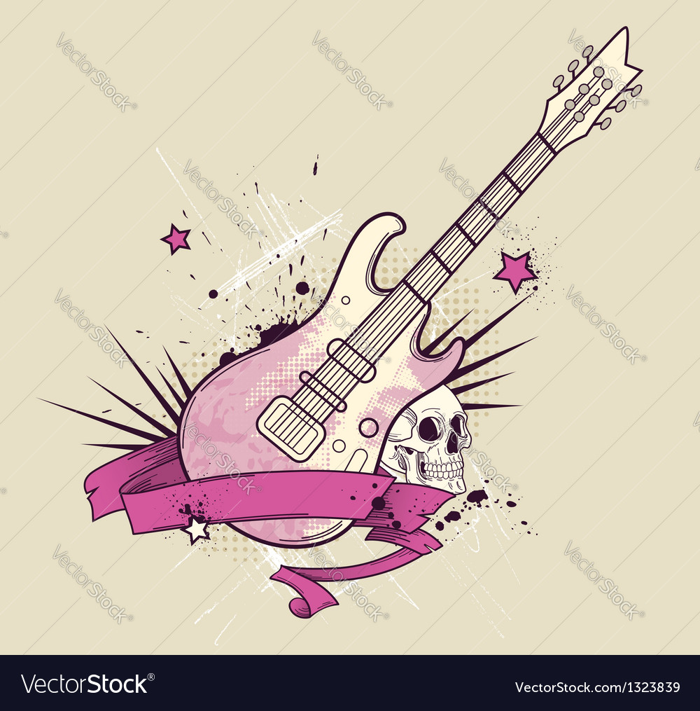 Rock guitar vector | Price: 1 Credit (USD $1)