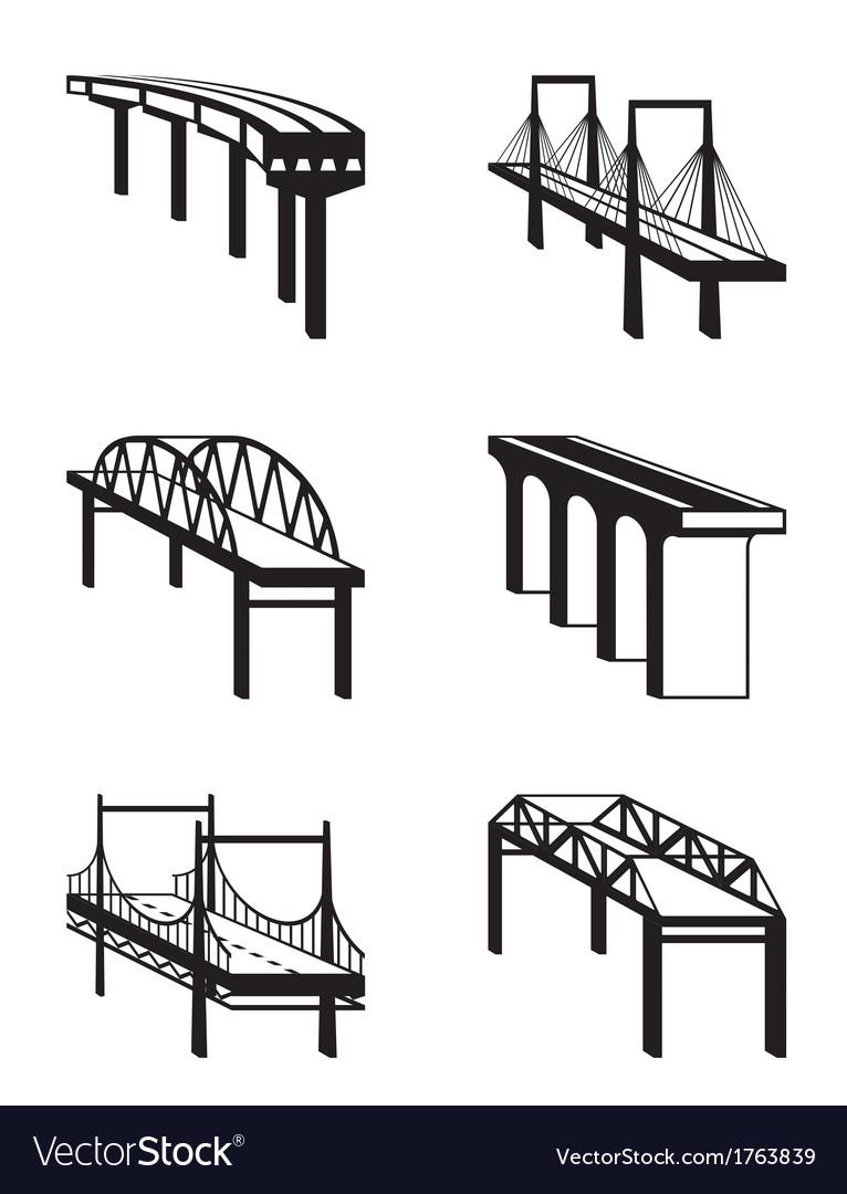 Various bridges in perspective vector   Price: 1 Credit (USD $1)