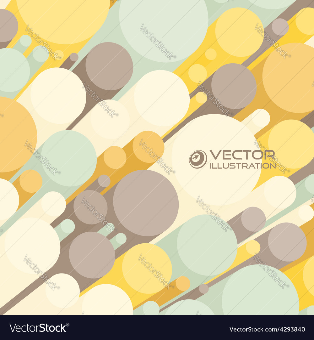 Abstract 3d background with colorful cylinders vector | Price: 1 Credit (USD $1)