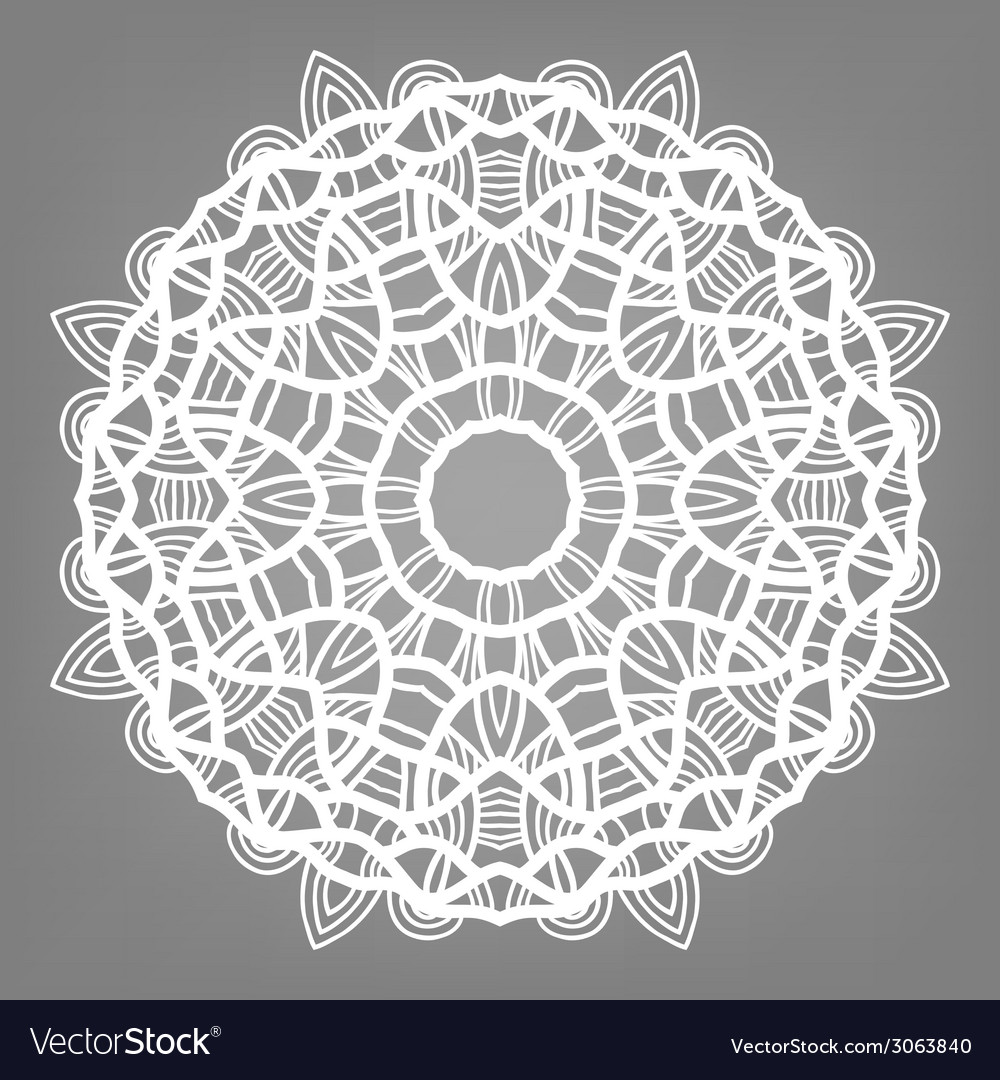 Christmas decorative lace ornament snowflake vector   Price: 1 Credit (USD $1)
