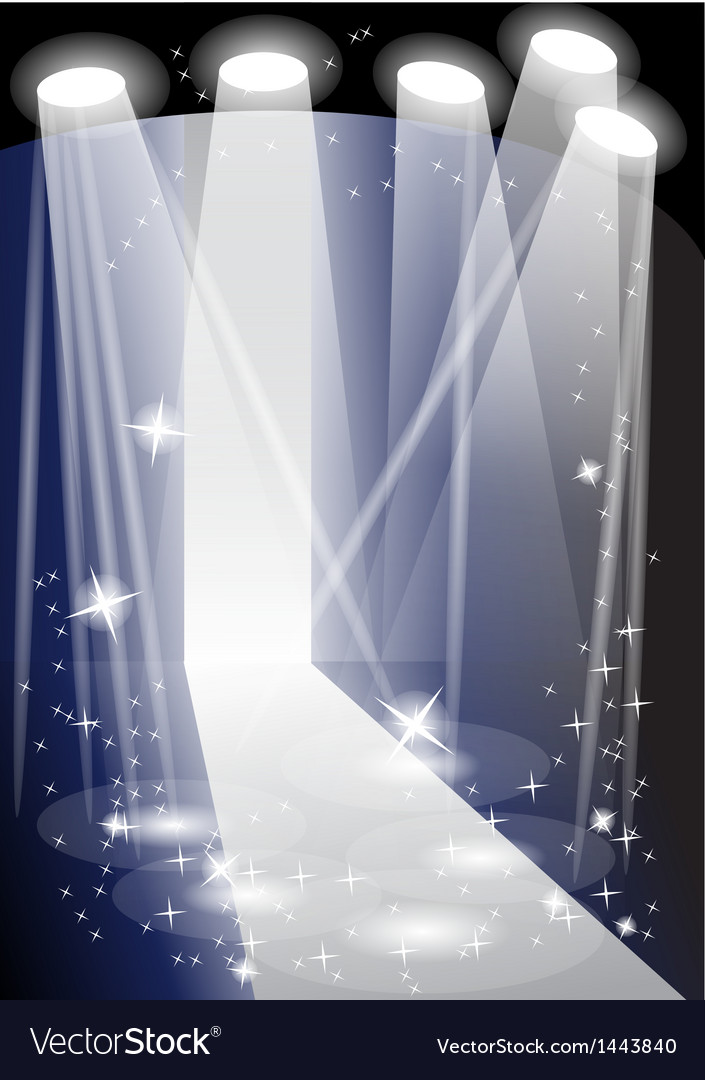 Illuminated catwalk vector | Price: 1 Credit (USD $1)