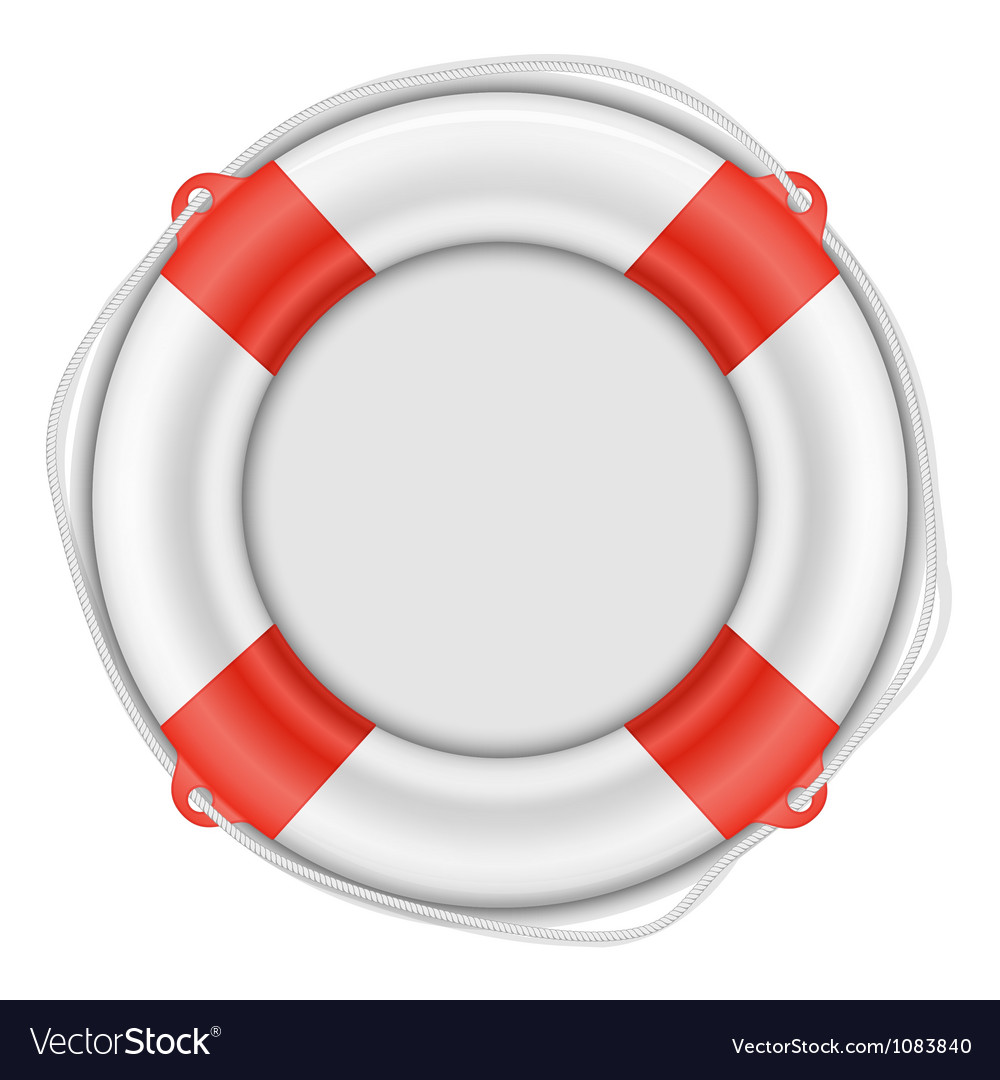 Life buoy isolated on white vector | Price: 3 Credit (USD $3)