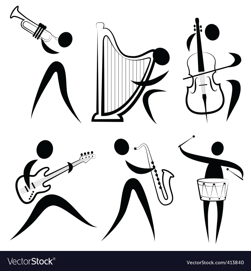 Musician symbol vector | Price: 1 Credit (USD $1)