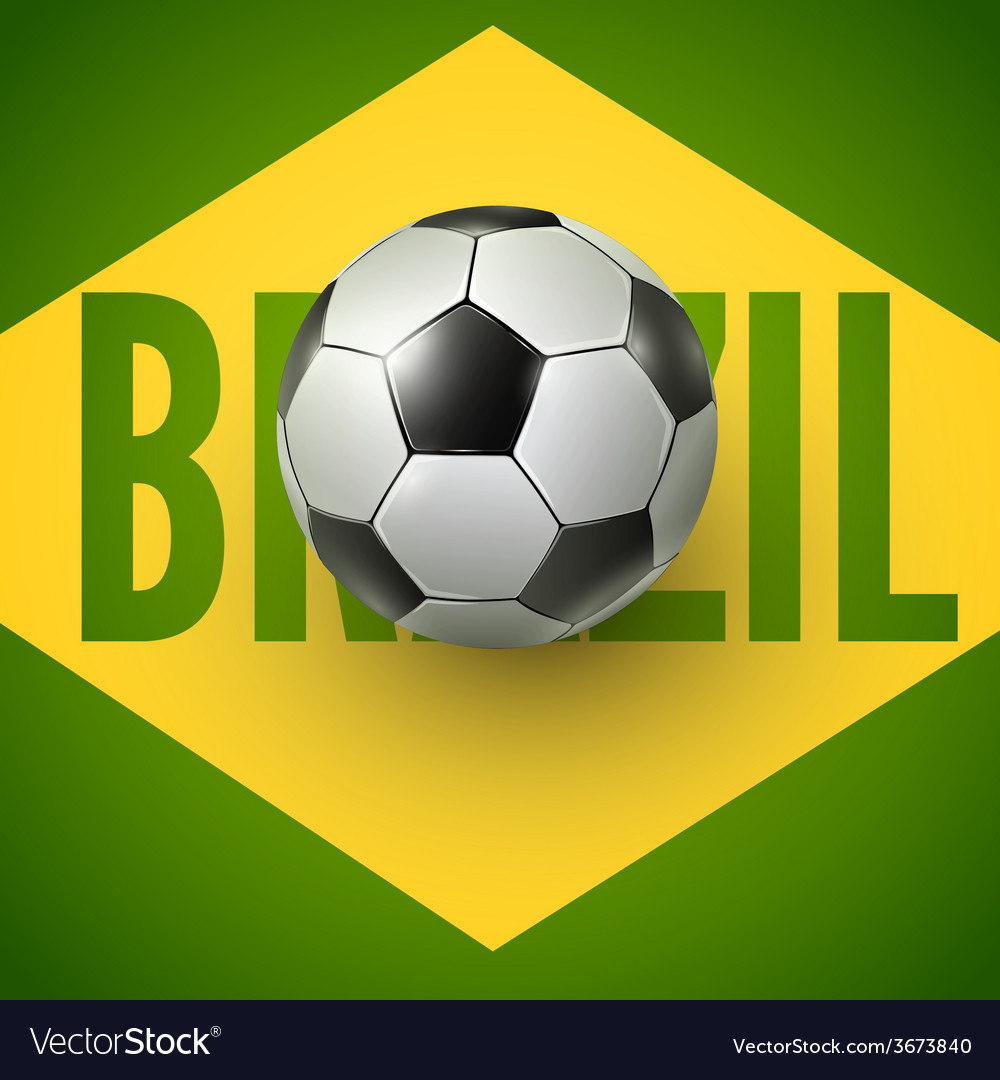 Soccer ball of brazil 2014 vector | Price: 1 Credit (USD $1)